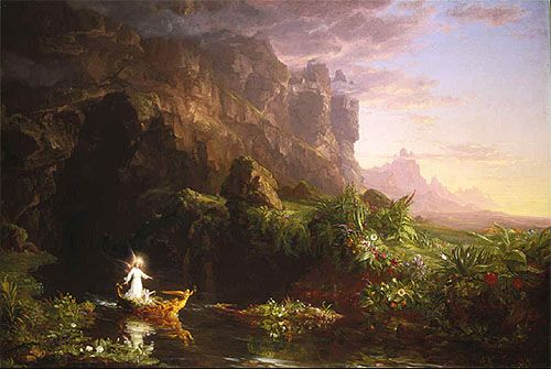 thomas cole the voyage of life, birth