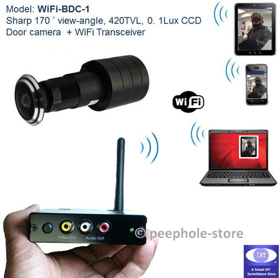 Details about 170 wifi door peephole motion detect for Door peephole camera