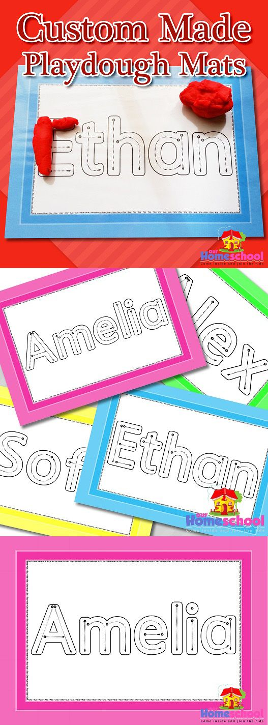 Custom made playdough mats - the perfect tool for children learning to write their names!