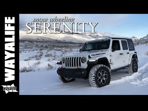 Jeep Jl Wrangler Rubicon Off Road In The Snow Serenity Youtube