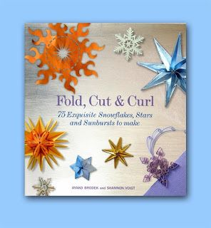 Fold, Cut & Curl. Snowflakes, stars, sunbursts. Origami, kirigami, quilled designs. Book review here: http://thepapercraftpost.blogspot.co.uk/2013/11/book-review-fold-cut-curl.html