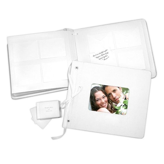 Cathy's Concepts Wedding Wishes Envelope Guest Book, White
