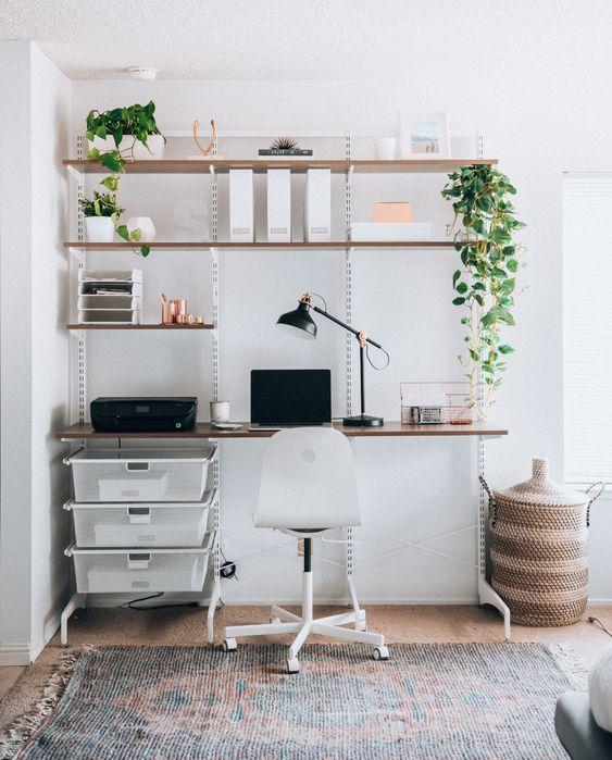 Modern Minimalist Home Office Space Ideas