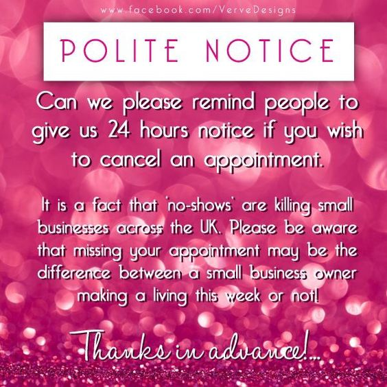 Cancellation policy cancellation policy pinterest for 24 hour beauty salon nyc