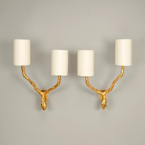 vaughan designs twig wall light sconce brass lighting