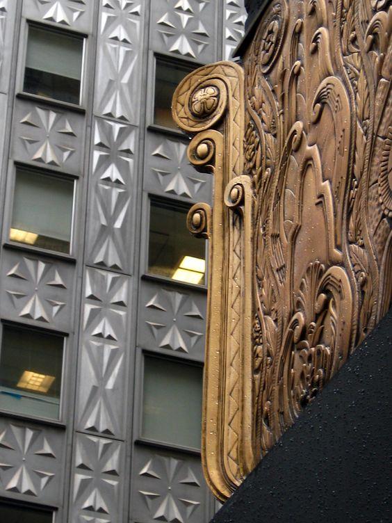 Art Déco - Chanin Building - 56 étages - Terre Cuite, Bronze, Marbre - Sloan & Robertson - Midtown - USA - 1929