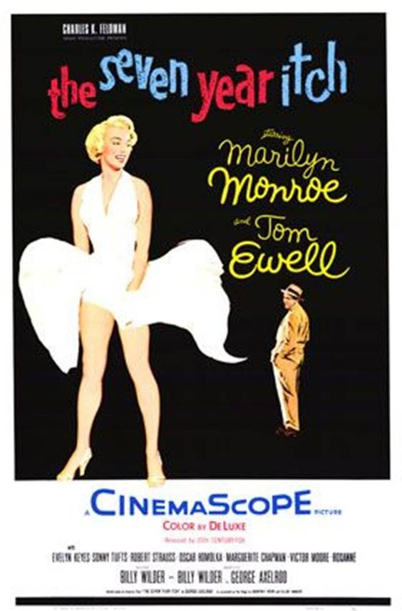 The Seven Year Itch . USA 1955, directed by Billy Wilder, and stars Marilyn Monroe and Tom Ewell,