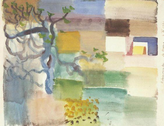Louis Moilliet: Landschaft mit Baum. La Marsa 1920