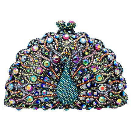 Butler and Wilson Swarovski Crystal Peacock Clutch Bag Multi - wish I could afford it!