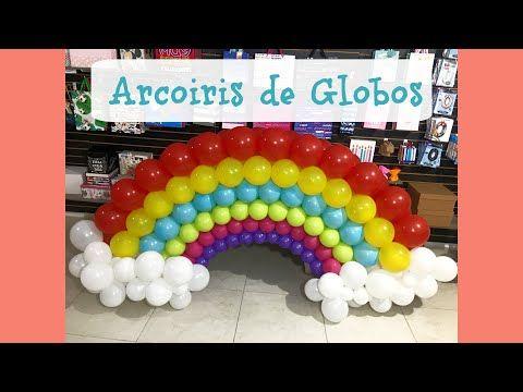 Como Hacer Arcoiris Con Globos Arcoiris De Globos Paso A Paso Globiin Youtube Arcoiris Con Globos Globos Globos De Arco Iris