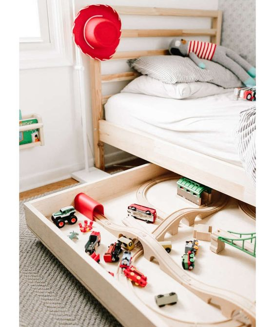 Turns out there's a lot more than monsters hiding under your kid's bed—there's also plenty of unused storage space.