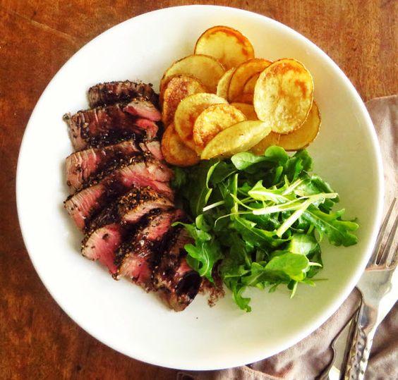 Culinary Classic: Steak Frites Recipe (http://blog.hgtv.com/design/2014/08/28/french-connection-steak-frites/?soc=pinterest)