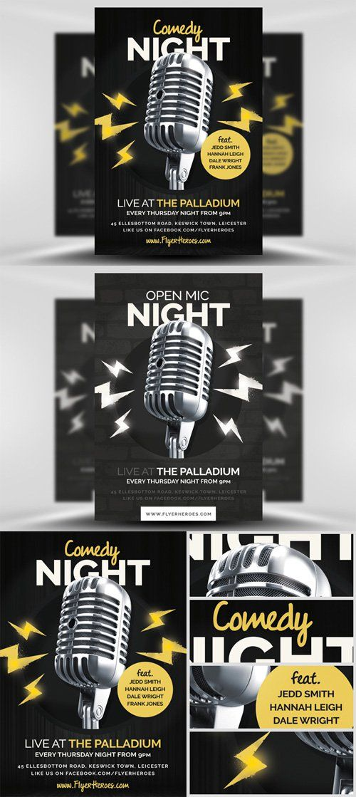 Open Mic Night Flyer Template - Invitation Templates Design - flyer invitation templates free
