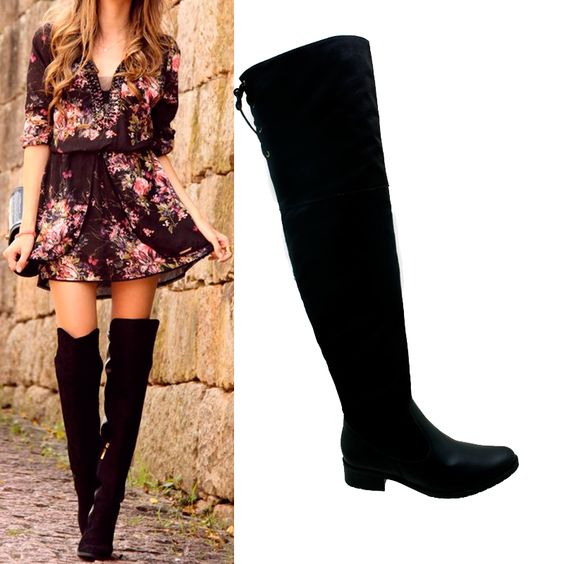 Botas Over The Knee ou Over Boots - Saiba como usar as botas de cano longo