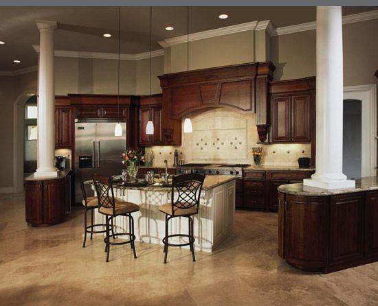 Dynasty Omega cabinetry, Wyatt door style, Cherry wood, Burgundy ...