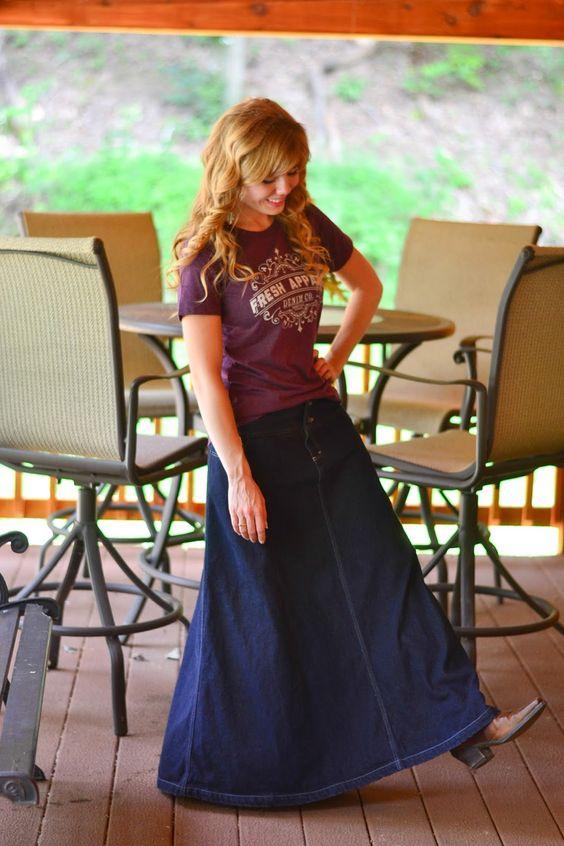 Looking forward to Fresh Apparel's new line of denim skirts!! | Fresh Modesty | Be Back September 1st! #modestoutfit #freshapparel