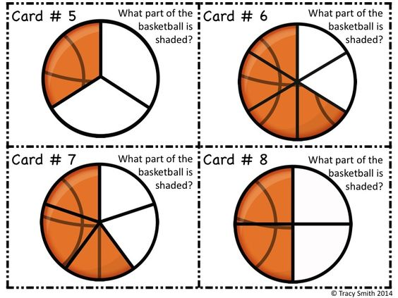 Fraction basketball - identify the fractional part