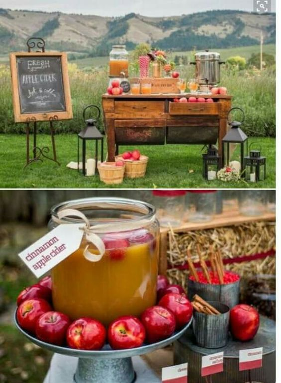 Cider Bar -- Using Beck's coffee cart, less rustic, more glam.