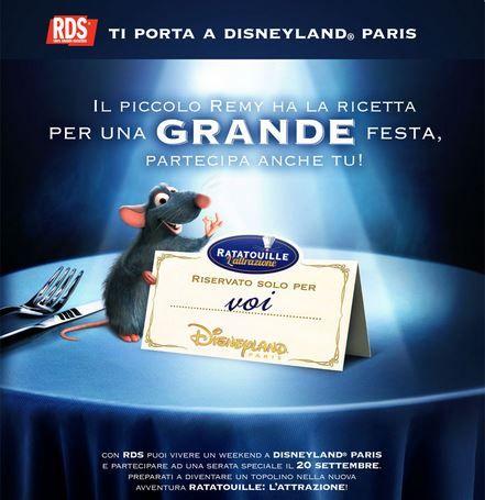 Concorso RDS per vincere un viaggio a Disneyland Paris