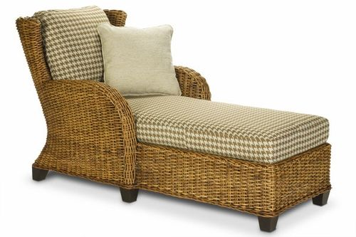 Clarissa Rattan Chaise Lounge Chair Wicker Chaise Lounge Chaise Lounge Chair Outdoor Dining Chairs