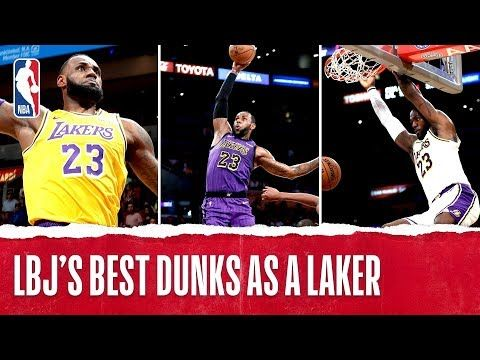 Lebron S Best Dunks Since Joining The Lake Show Youtube Best Dunks Dunk Lebron