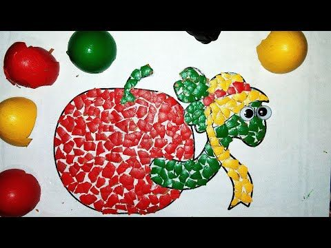 How to Install Eggshell Shells for Apple Fruit Craft Youtube Apple Fruit Shells