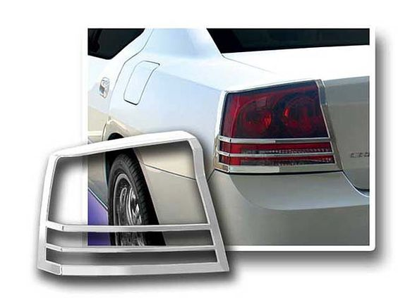 Charger 2006 2010 Dodge 2 Pieces Taillight Bezel Imported Abs Plastic With Chrome Overlay Tl46910 Tail Light Automotive Accessories Chrome