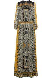 EtroEmbellished paisley-print silk-jacquard gown