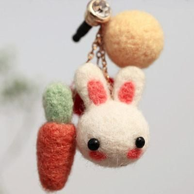 Carrot Bunny (Earphone Plug) - DIY Felting Kit – Michu Things
