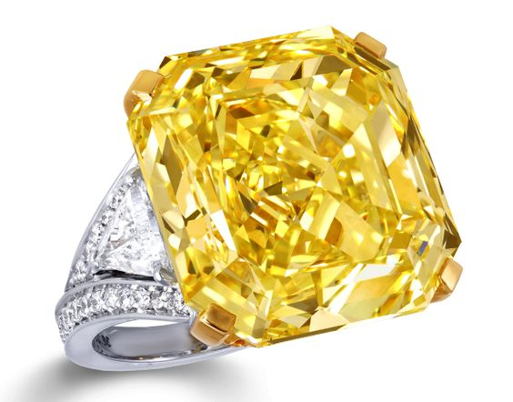 Graff Fancy Intense Yellow Diamond Ring