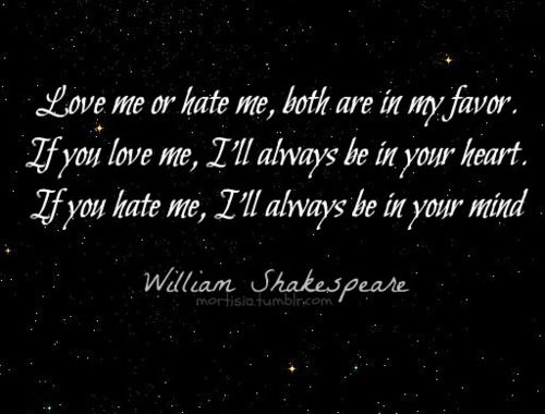 love hate in shakespeare s macbeth In william shakespeares macbeth and is supplanted with greed and hate when three witches more on comparison and contrast paper of macbeth and othello.