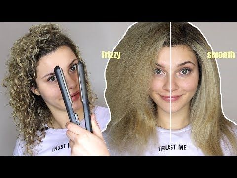 How To Straighten Curly Hair Without Frizz Youtube Straightening Curly Hair Curly Hair Styles Curly Hair Styles Naturally
