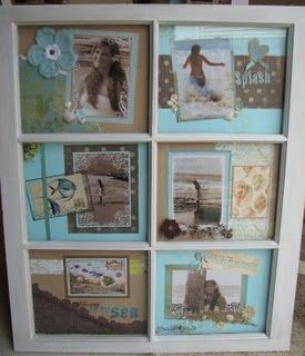 window frame scrapebook pages
