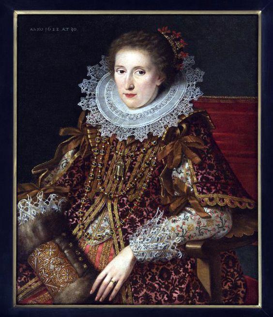 Portrait of a lady by Wybrand de Geest, 1622: