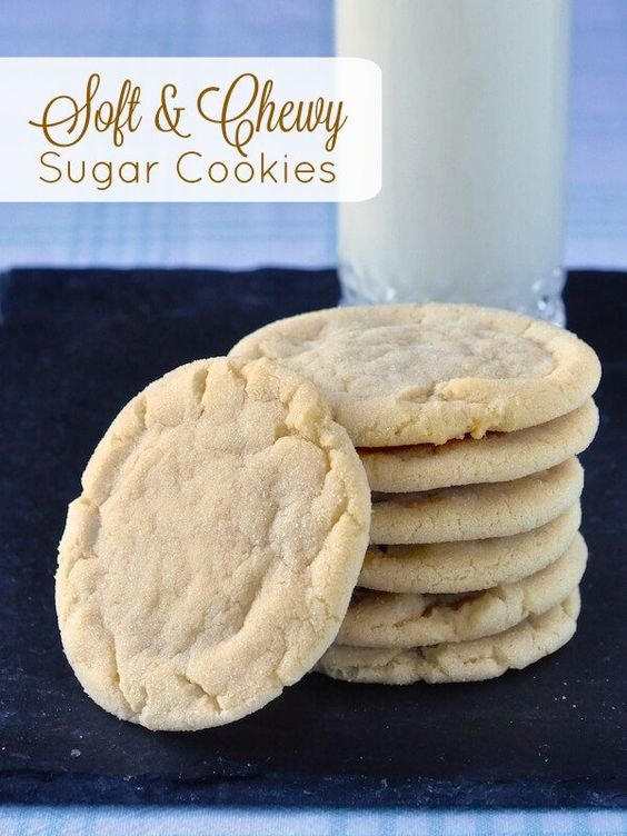 Soft Chewy Sugar Cookies | Recipe | Chewy Sugar Cookies ...