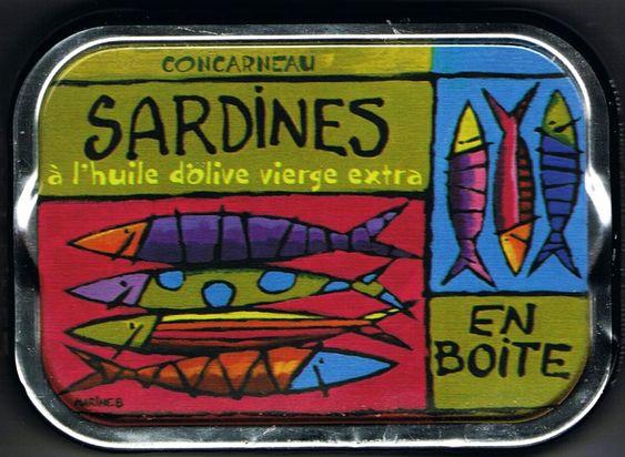 boite de sardines illustr e par marine breton finistere bretagne brittany poissondavril. Black Bedroom Furniture Sets. Home Design Ideas