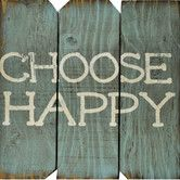 Found it at Wayfair - Choose Happy Wall Décor
