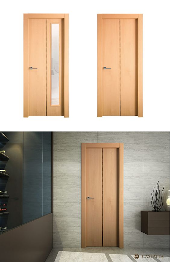 Puerta de interior clara modelo agata de la serie euro for Puertas castalla