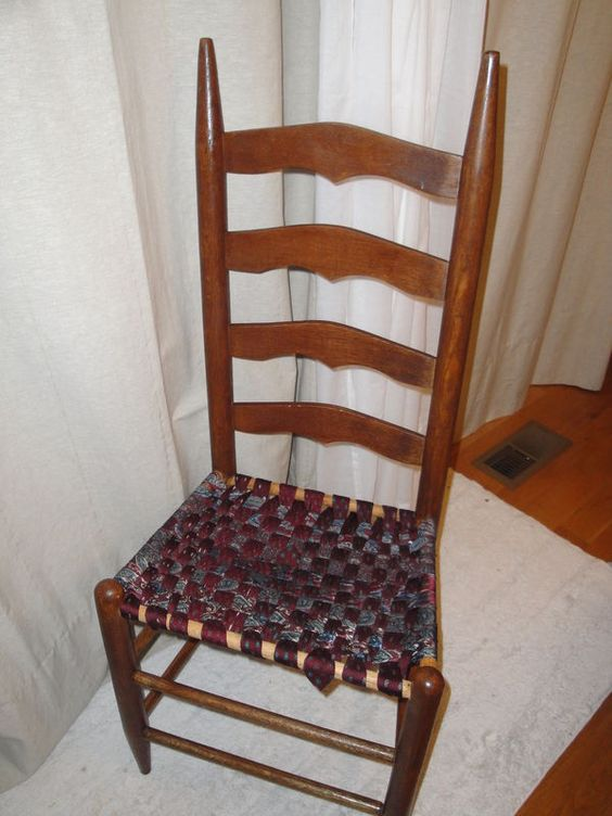 Quilting Ties And Old Chairs On Pinterest