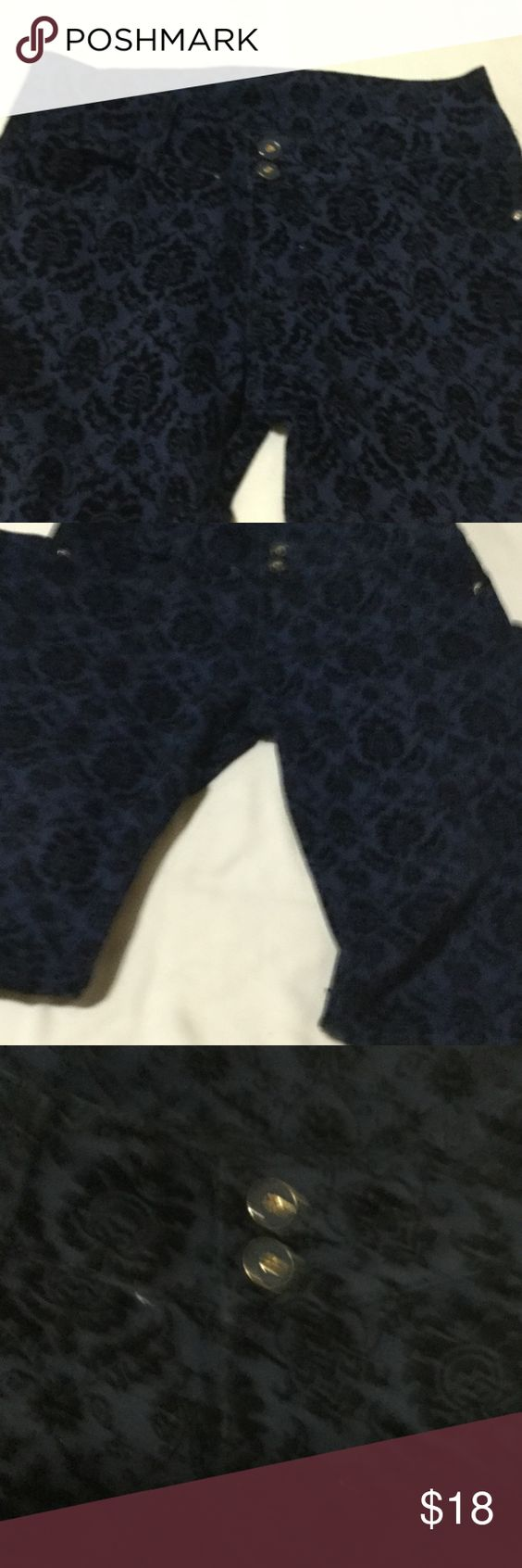 Velvet flowered jeans Special addition by Levi's  very rare in USA Made for Europe . Velvet flowers on blue jeans with 5 pockets and beautiful blue buttons . You can only buy this till 27 October because my shipping time is limited and all offers of 50% on already reduced price is honored . Thanks Levi's Jeans Skinny
