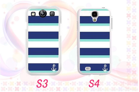 Navy style   Samsung galaxy s3 or s4 case you can by wangmade