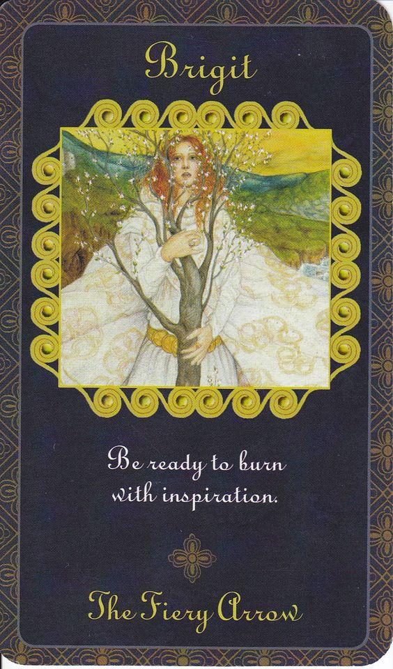 Brigid in Goddess Inspiration Oracle by Kris Waldherr