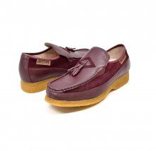British Collection Brooklyn Burgundy Leather and Suede