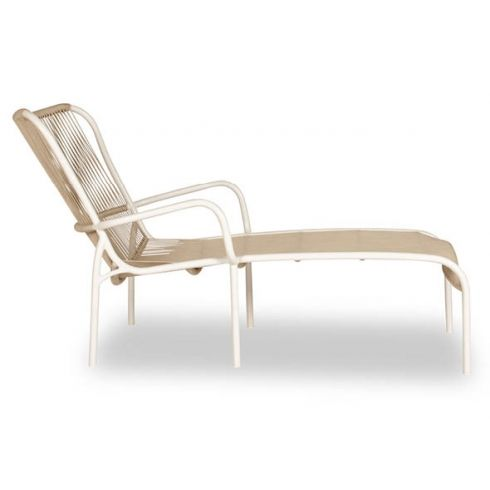 Vincent Sheppard Loop Chaise Longue Beige Stone White Furniture