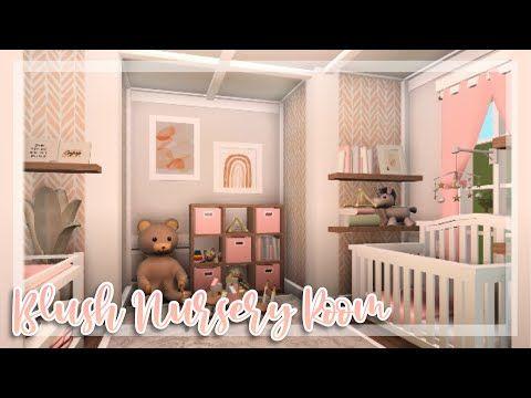 Blush Nursery Room SpeedBuild / Bloxburg Baby Update / Bloxburg SpeedBuild / Bloxbu… | House Decorating Ideas Apartments, Nursery Room Design, Simple Bedroom Design