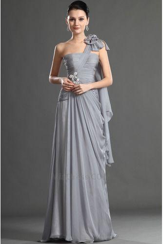 Um ombro Elegante & Luxo vestido Bainha De chiffon Vestido de noite - Página 2