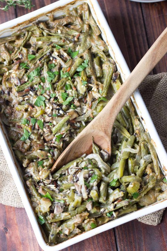 Green Bean Wild Rice Casserole