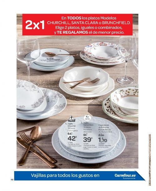 Menaje Cocina Carrefour Mayo 2018 Vajillas Ollas Sartenes
