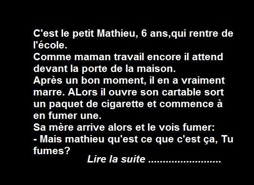 Le Petit Mathieu Mathieu Humour Histoire Drole