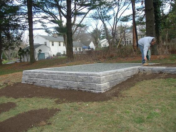 Sheds and foundation on pinterest for House foundation on slope